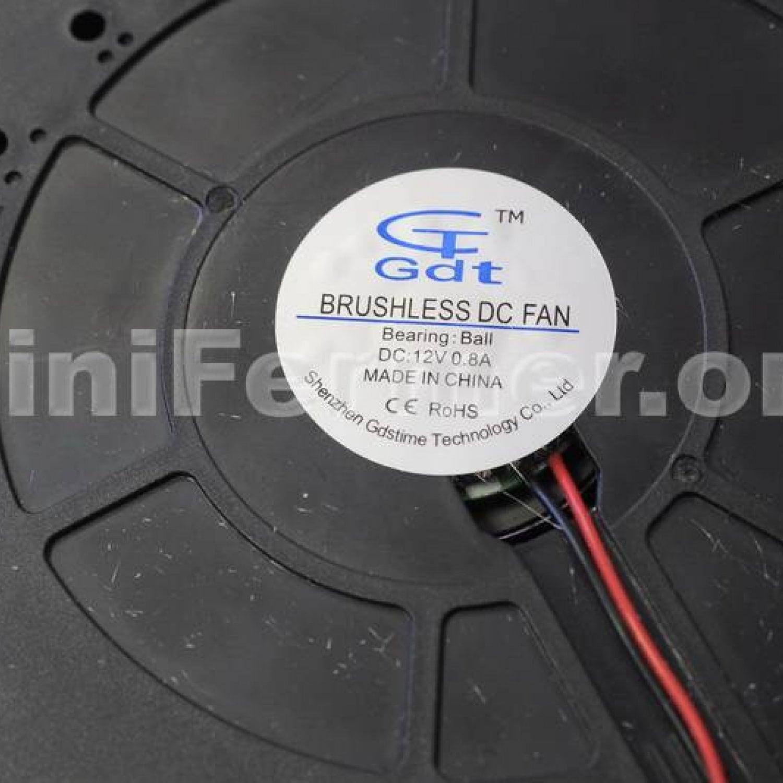 Вентилятор радиальный (центробежный) 120х120х32мм 12Вольт GDT12032