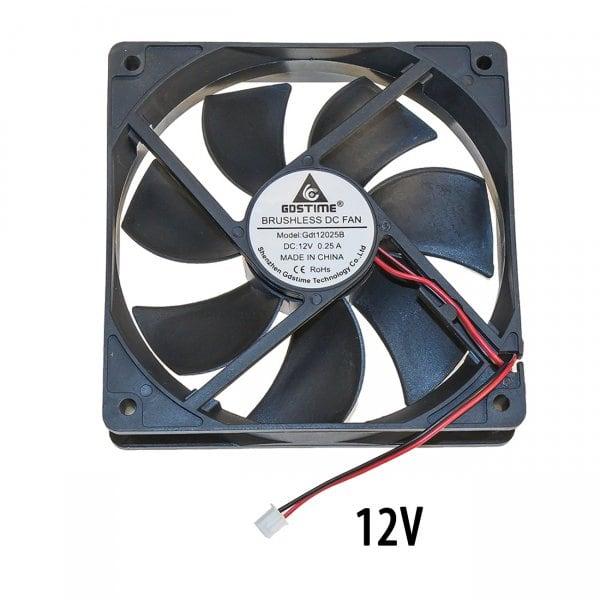 Осевой вентилятор корпусной 120х120х25мм 12Вольт