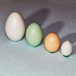 Пластиковое яйцо перепелиное заполненное водой.